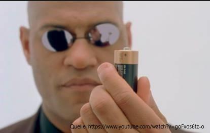 Die Energie kommt ausder Batterie